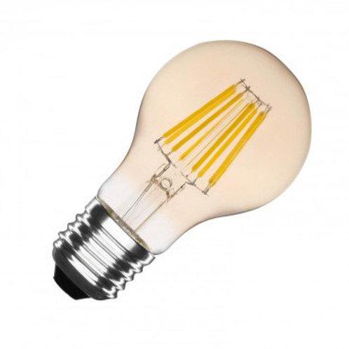 Ampoule LED E27 A60, filament, 6W, golden, dimmable