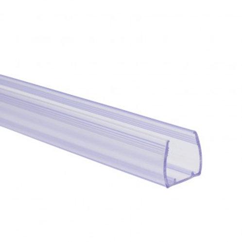 Profilé en PVC, pour gaine néon LED RGB, 1m x 14x14mm