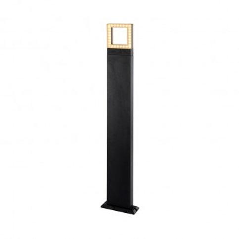 Balise sur pied LED rectangulaire extérieure cadre gris anthracite, 12W