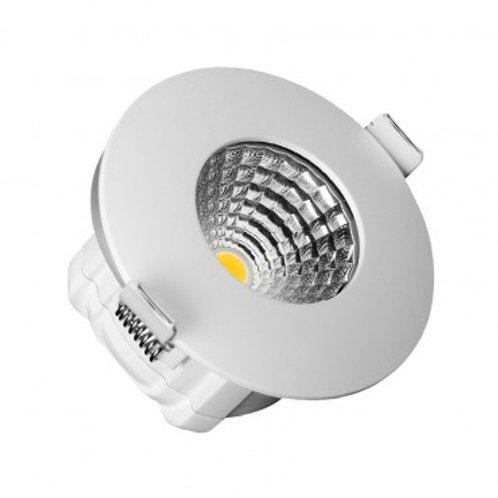 Spot LED rond extérieur blanc, étanche, 8W