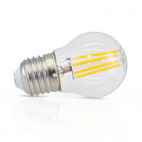 Ampoule LED E27 G45, bulbe filament, 4W, dimmable