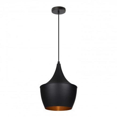 Lampe suspendue vintage noire