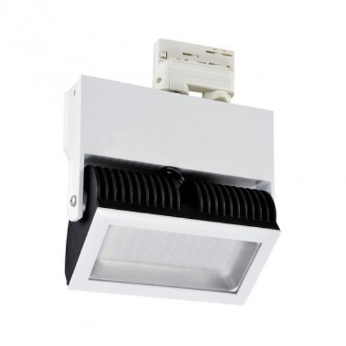Spot LED Samsung, cadre blanc pour rail triphasé, 48W