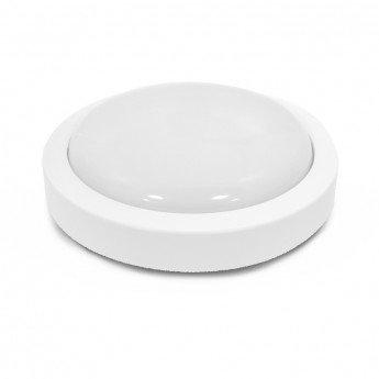 Plafonnier LED rond, cadre blanc, 12W