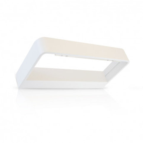Applique murale LED rectangulaire blanche, 6W