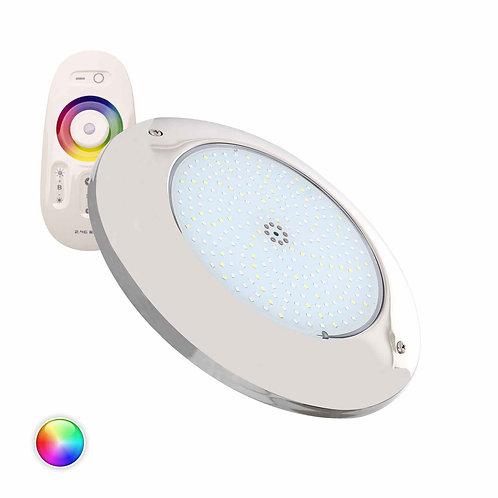 Spot LED, spécial piscine, en inox, 20W, IP68, RGBW