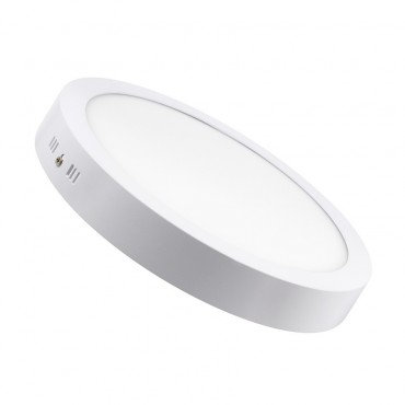 Plafonnier LED rond cadre blanc, 24W