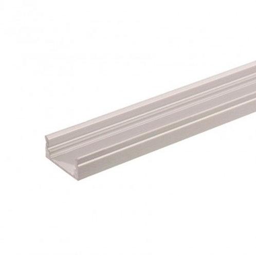 Profilé en aluminium translucide, pour ruban LED 037, 1m x 17x8mm