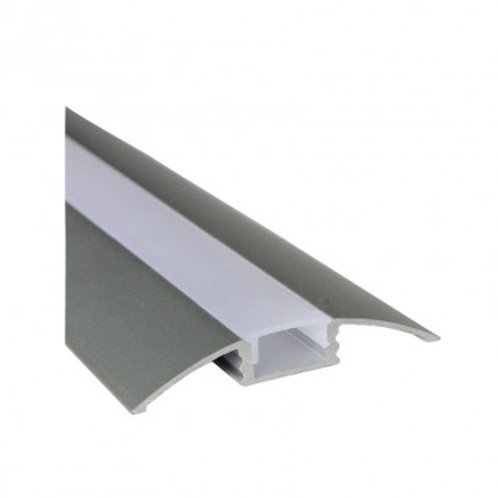 Profilé en aluminium translucide pour ruban LED, 1m x 10x5mm