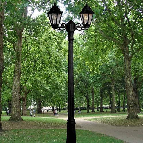 Lanterne double LED cadre noir