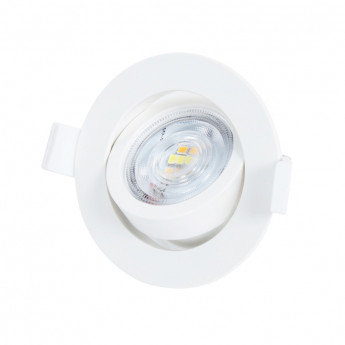 Spot LED rond cadre blanc, orientable, 7W, sélectionnable