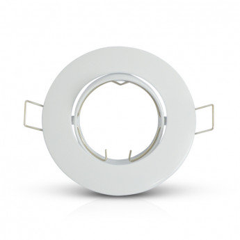 Support plafond rond blanc, orientable