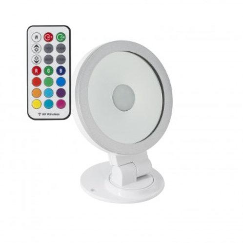 Projecteur LED extérieur cadre blanc ou noir, orientable, 10W, RGB
