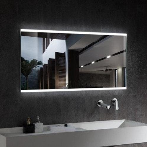 Miroir LED SMD2835 rectangulaire, 100W, température sélectionnable, anti-buée