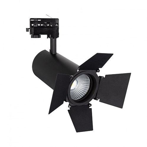Spot LED, cinéma, pour rail triphasé, 40W, sélectionnable