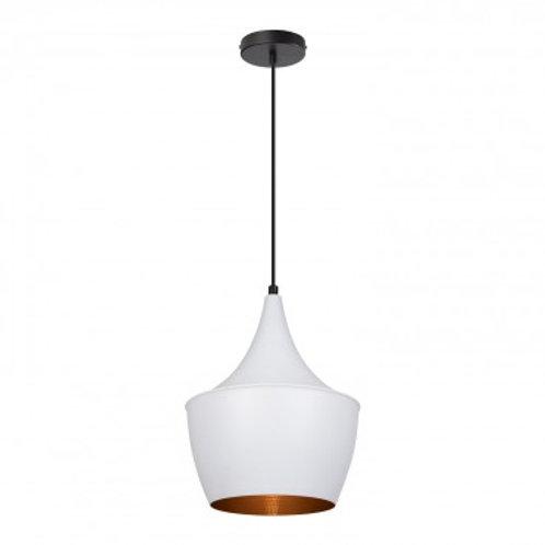 Lampe suspendue vintage blanche