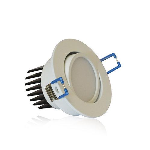 Spot LED rond blanc, orientable, 7W