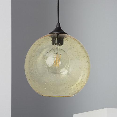 Lampe suspendue en verre jaune