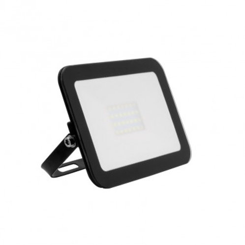 Projecteur LED SMD crystal extérieur cadre noir, extra-plat, 20W