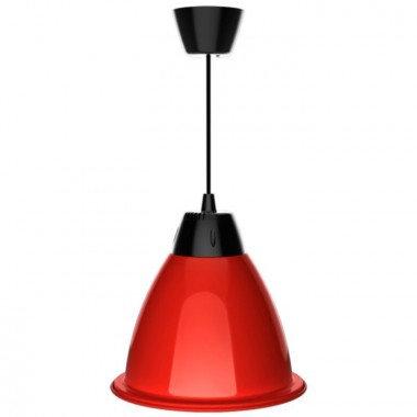 Suspension cloche LED SMD rouge en aluminium, 35W