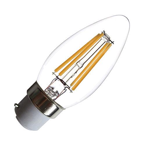 Ampoule LED B22, flamme filament, 4W