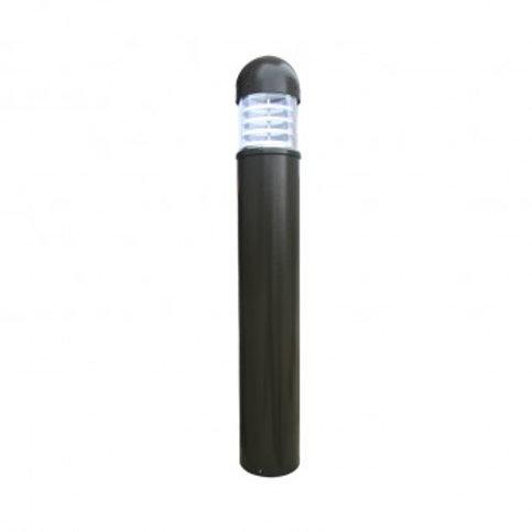 Balise sur pied LED ronde extérieure cadre gris, 25W