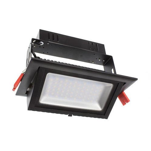 Projecteur encastrable LED Samsung SMD rectangulaire cadre noir, 28W