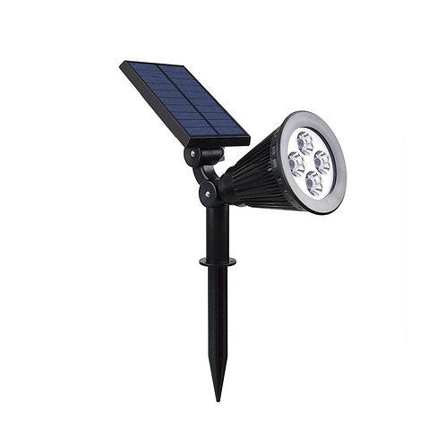 Spot LED cadre noir, solaire, 01W