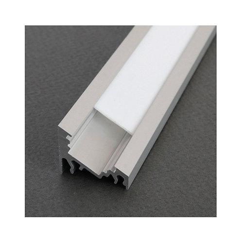 Profilé en aluminium anodisé pour ruban LED, 1m, angle 30/60°