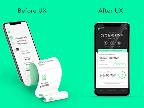 Mobile Experience of a Defi Network - UX/UI design case study of a crypto wallet