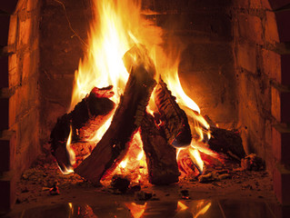 Nothing is more cosy than an open fire