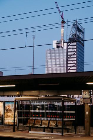 La gare et Lyon en construction - Julia Guérin