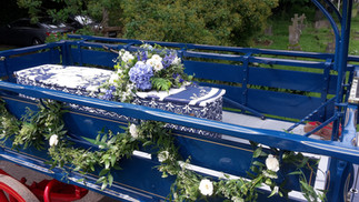 Holly's Funerals Horsedrawn carriage & printed coffin