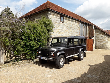 Holly's Funerals Landrover hearse