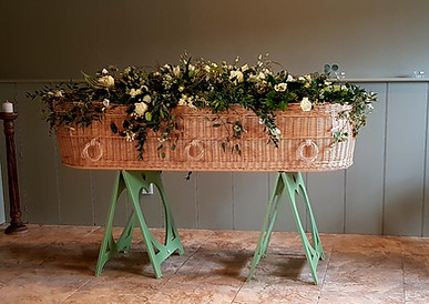 Holly's Funerals wicker coffin
