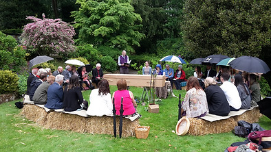Holly's Funerals outdoor funeral