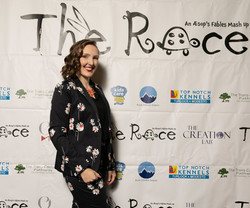 On the red carpet for the premiere of THE RACE