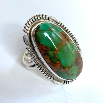 GREEN FOX TURQUOISE RING