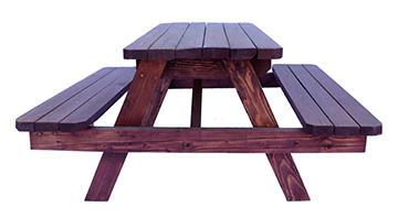 Small Sunburst Wooden Picnic Table