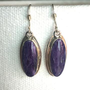 Purple Charoite Earrings