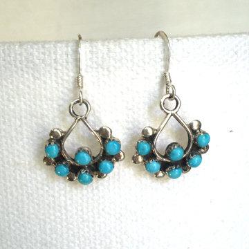 Zuni Turquoise Dangle Earrings