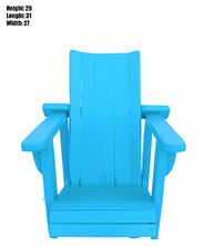 Small Blue Adirondack Wooden Chair