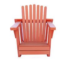 Small Orange Adirondack Wooden Chair