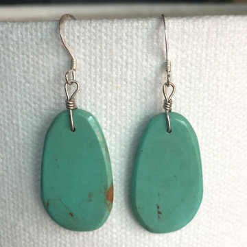 Turquoise Slab Earrings 35