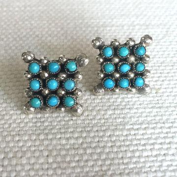 Zuni Post Earrings
