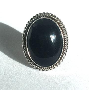 Artie Yellowhorse Black Onyx Ring