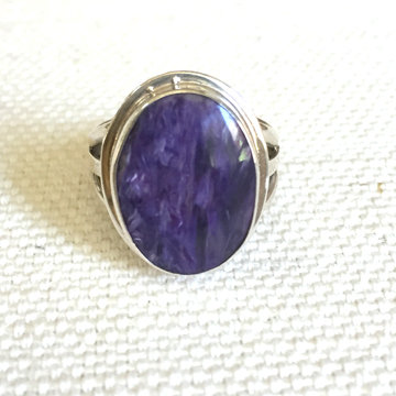 Purple Charoite Ring