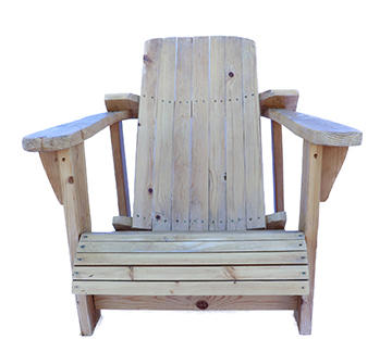 Large Natural Wooden Chair