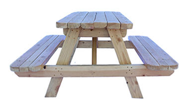 Large Natural Wooden Picnic Table