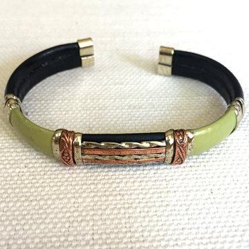 Taxco Leather Bracelet - Olive
